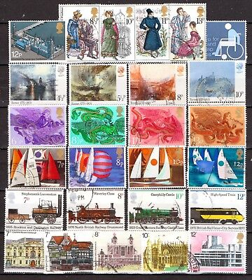 QEII  1975 Yearset  8 used Commemorative sets (j282)