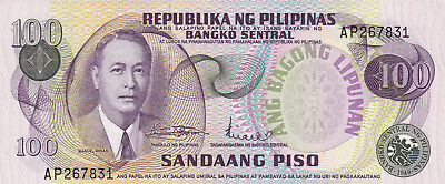 100 Piso Aunc-Unc Banknote From Philippines 1978 !pick-164!