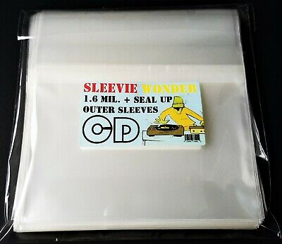 5 CD Sleeves Resealable Outer Plastic Crystal Clear Fits Gatefold Case & SACD