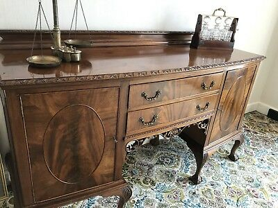 Mahogany Chippendale Style Sideboard Circa 1900
