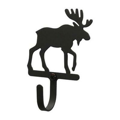 Village Wrought Iron WH-19-S Moose Wall Hook Small - Black