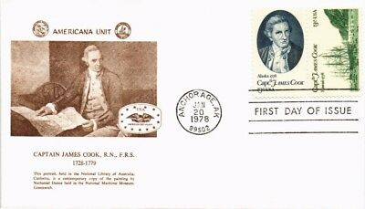 Dr Jim Stamps Us Cover Captain James Cook Fdc Combo Scott 1732 1733