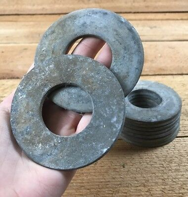 """Lot Of 10 Vintage Metal Washers 3"""" Industrial Steampunk Art  / Corn Hole Game"""