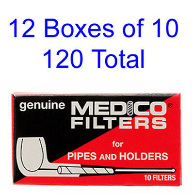 FILTERS Medico Tobacco Pipe Cigar Holders Filters 12 Boxes 10 - 120 Total
