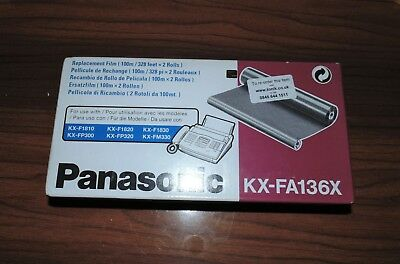 Panasonic KX-FA136X Film Refill Roll 100m 2X IN THE BOX