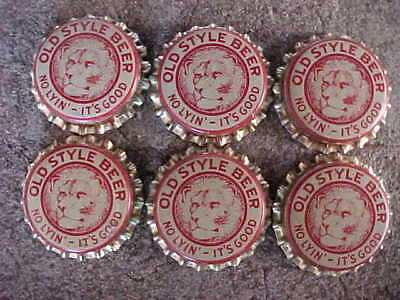 """Old Style Beer """" No Lyin' - It's Good """" Cork Lined Bottle Caps"""