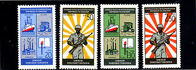 ZANZIBAR #327-330  1966  2ND ANNIV. OF THE REVOLUTION   MINT VF LH  a