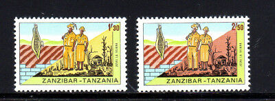 Zanzibar #356-357  1967  Volunteer Workers   Mint Vf Lh