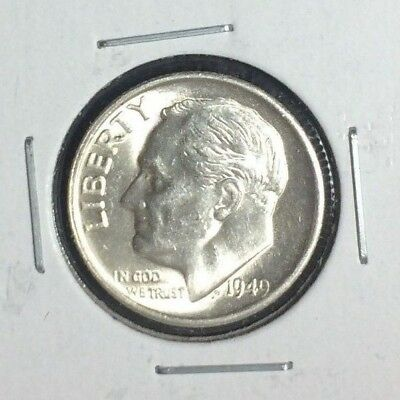 1949-S Roosevelt Silver Dime ~ Ch/bu Beautiful Coin