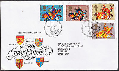 Great Britons - First Day Cover 1974 -  stamps SG958 to SG961