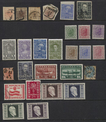 Austria Small Interesting MH / MNH (Renner Set ) / Used Lot, Imperf Etc