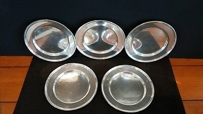 "LUNT Sterling Silver 6"" Plates (5)"