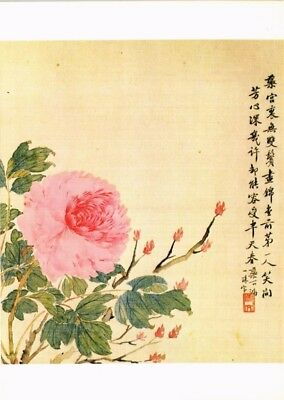 Dr Jim Stamps Us Peony Chi Chu Tung Indianapolis Museum Art Continental Postcard
