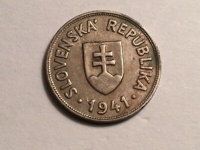 SLOVAKIA 1941 50 Halierov coin very nice condition