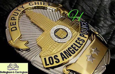 gl/ Historisches police badge + Deputy Chief, Los Angel. / hallmark