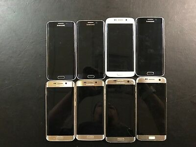 LOT of (8) Galaxy S6/S7/EDGE Android Smartphones - PARTS DEAL!! LOT-160