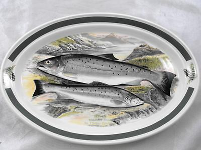 PORTMEIRION The Complete Angler British Fishes Welsh Sea Trout No 3 Oval Dish
