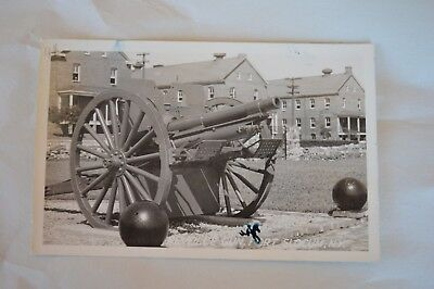 VTG 1940 Photo RPPC Posted Postcard Reveille Gun Fort Slocum NY 1c GW Stamp