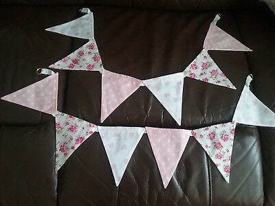 pretty bunting style curtain tie backs pink white hearts spots flowers new