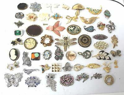 55 Pcs Collection of Costume Jewellery BROOCHES & PINS Inc. Millenium Dome - C68