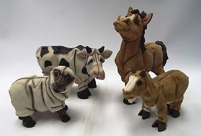 4 x BLYTHE Collectables Figures - Horse, Cow, Sheep, Goat - B12