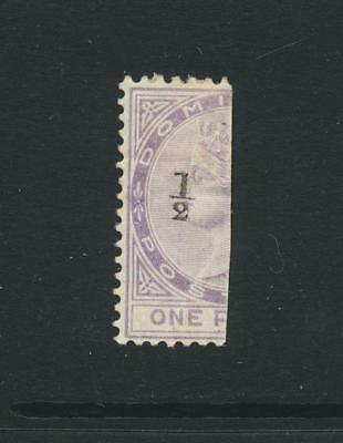 DOMINICA 1882, ½d on 1d BISECT, MINT SG#10 CAT£225 $295 (SEE BELOW)