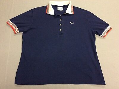 Vtg 80S Izod Lacoste Haymaker Alligator Polo Blue Shirt Youth Or Womens Large