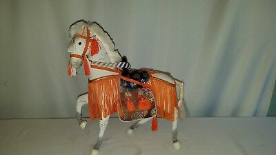Vintage White Japanese Boys Day Display Horse