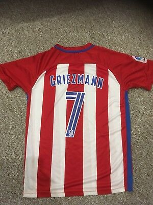 Official Athletico Madrid Fc #7 Griezmann Home Shirt / Small Adult - Mint