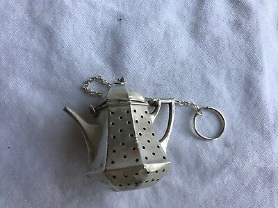 Antique Sterling Silver Teapot Shaped Tea Strainer Infuser by Webster Silver Co.