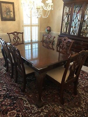 Stanley Stoneleigh Dining Set With China Cabinet And Side Server