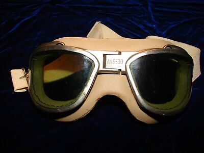 US AN-6530 Flying Goggles-Chas. Fischer Spring Co.Pilots Goggles are excellent