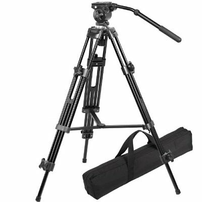 Avtp Professional 75 mm Video Camera Tripod With Fluid Head And A Carry Bag B