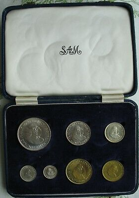 South Africa 1961  Proof Set in Original Box (7 Coins)