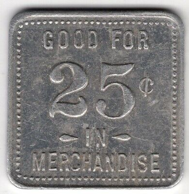 F Walker Grocery Norwich Ontario Good For 25 Cents Merchant Token Coin