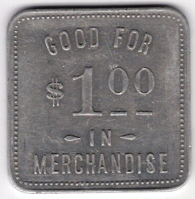 F Walker Grocery Norwich Ontario Good For One 1 Dollar Cents Merchant Token Coin