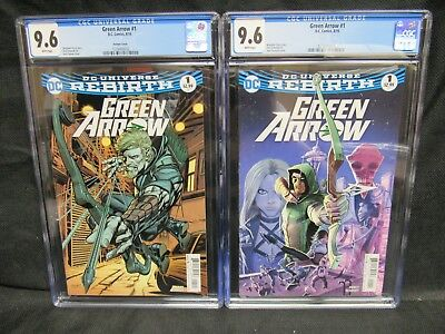 Green Arrow #1 & Neal Adams Variant Cover CGC 9.6 DC Rebirth CM1155