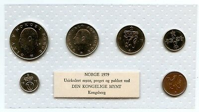 Norway 1979 Uncirculated coin set. Royal Mint , Kongsberg, Norway