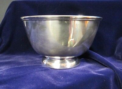 Vintage TOWLE Revere Bowl Sapphire Blue Lining Great for Entertaining!