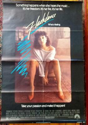 """Vintage FLASHDANCE Movie Poster-27"""" by 41"""""""