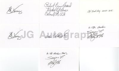 Vietnam Medal of Honor Recipients - Collection of 7 Autographed 3x5 Cards