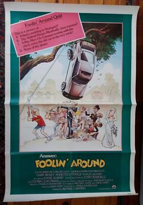 """1979 Columbia Pictures FOOLIN' AROUND Movie Poster-27"""" by 41"""""""