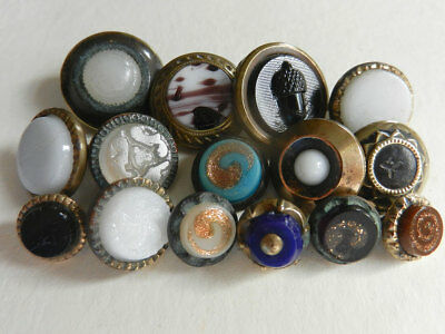 Lot of 15 Pretty Little Victorian Antique Waistcoat Buttons Various Designs