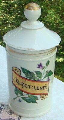 Antique Julio Labadie Mexico French Porcelain Drug Store Apothecary Jar- NICE!