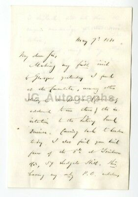 Francis Bret Harte - Gold Rush Era Writer & Poet - Autographed Letter from 1880