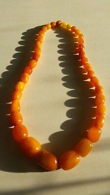 Antique Vintage Natural Butterscotch Baltic Egg Yolk Amber Beads 43 Grams