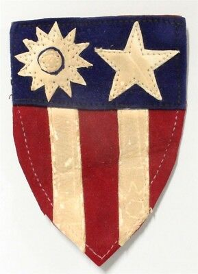 Army Patch - China, Burma, India Theater (CBI) - multi-piece leather