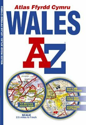 A-Z Wales Regional Road Atlas (Road Map) by Great Britain Paperback Book The