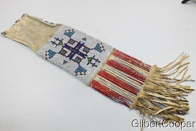 FINE SIOUX BEADED AND QUILLED PIPE BAG - CLEM CALDWELL x SITTING BULL -X CODY