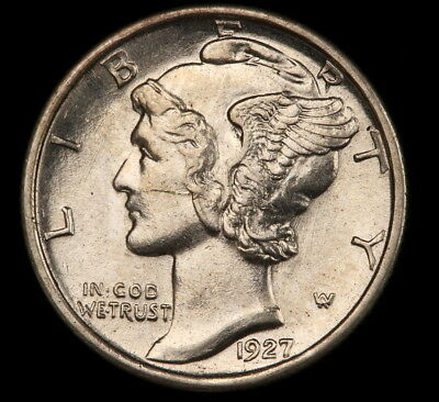 1927-S Mercury Dime - Scarce!!  High Grade!!  Lustrous!!  #c2143
